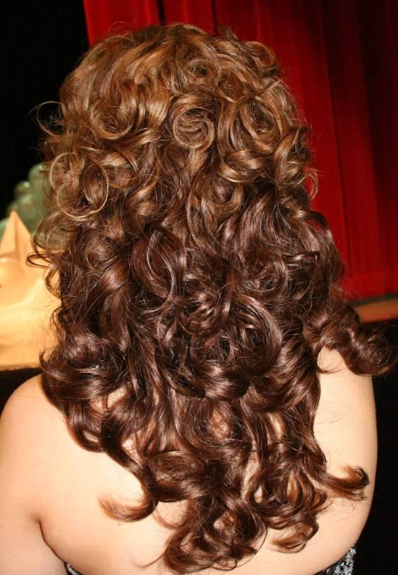 مدلهای مو برای عروس - موی فر